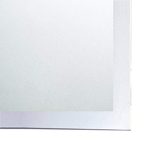 "Bloss Glass Frosted Paper Self-Adhesive Window Film Shower Waterproof Window Covering(17.7"" Wide by 78.7"" Long) Privacy Windows Sticker Home Decor, 1 Roll"