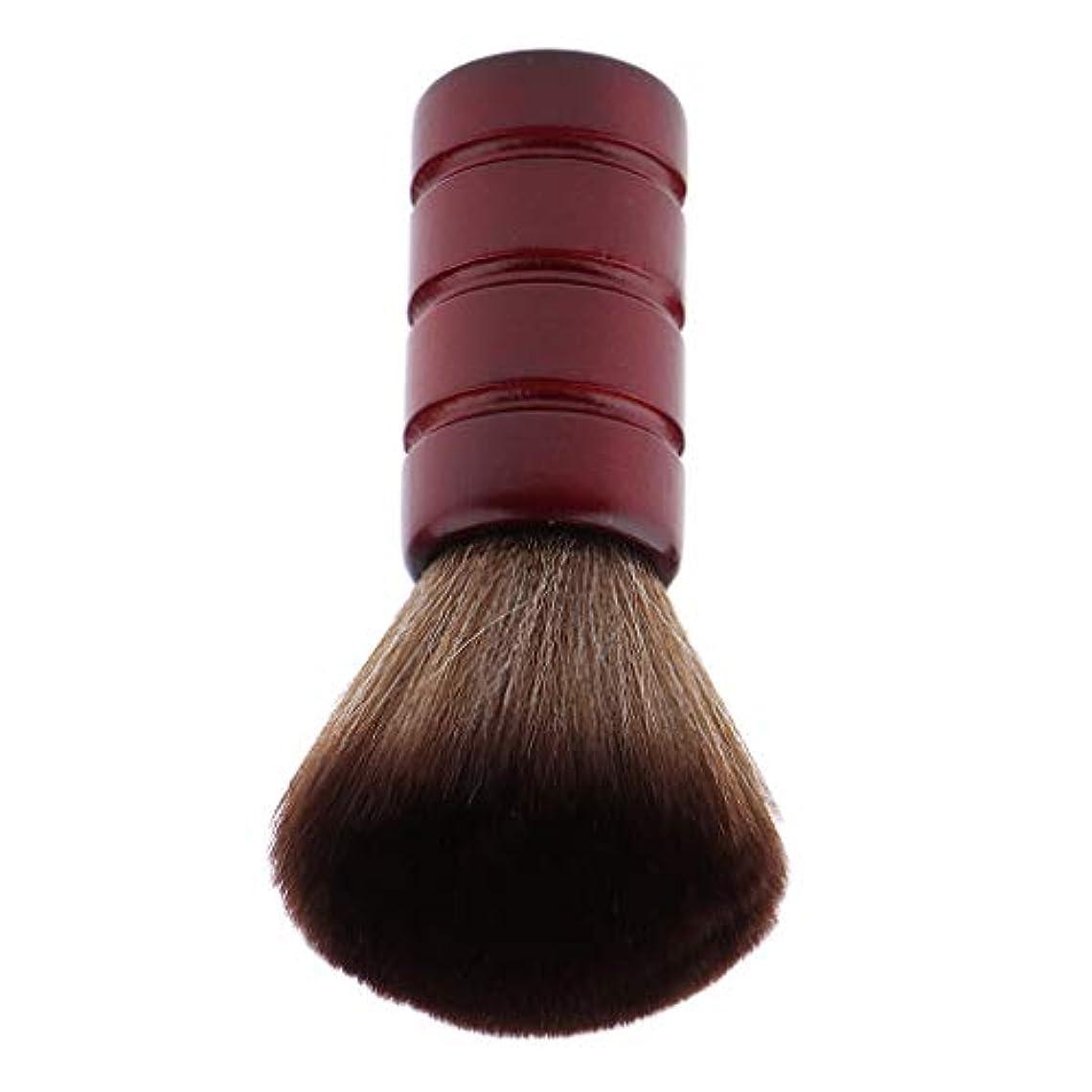 誠意デコレーションコールドF Fityle バーバー ネックダスターブラシ 理髪 サロン 顔のダスターブラシ シェービング ヘアカット ブラシ