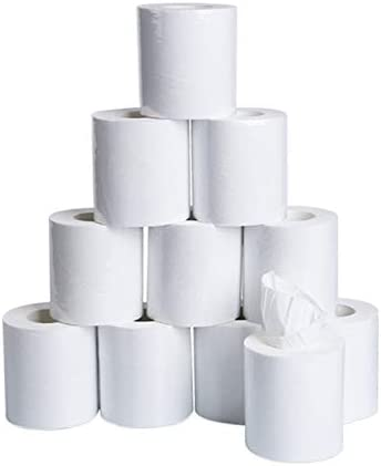 1 Pack//10 Value Rolls 1 Roll//170 Sheets 3 Layer Thickened Household Paper Boliaman Paper Towels White for Toilet Paper Table Kitchen Paper 10x10cm//sheet 100/% Soft Use