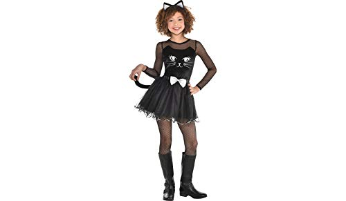 Black Cat Dress Halloween Costume for Girls, Small, with Included Accessories, by Amscan