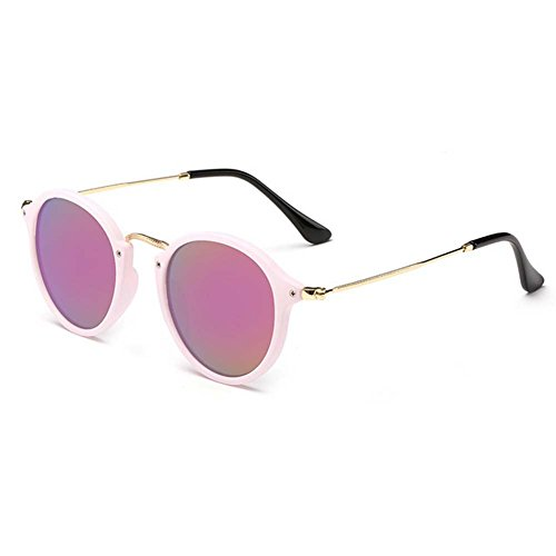 A-Roval Women Polarized Round Small Fashion Metal - Sunglasses Suit Which Face My Men
