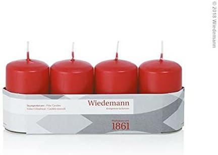 H x /Ø Bougies Wiedemann Bougies de Marque Made in Germany Bougies Blanc Bougies Pilier Blanc 6 x 5 cm 24 pi/èces