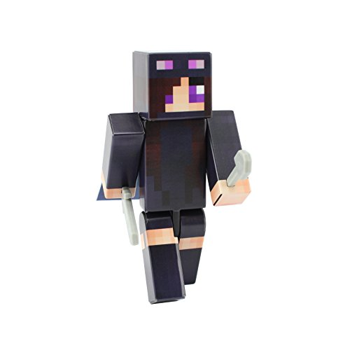 Minecraft Villager Costume (Ender Girl Action Figure Toy, 4 Inch Custom Series Figurines by EnderToys)