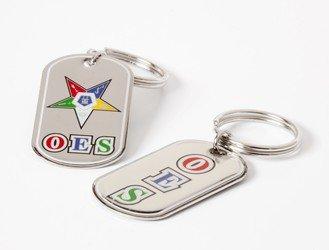 (OES Dog Tag Keyring - Eastern Star)
