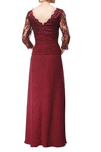 Festlichkleider Formal Glamour mia Dunkel Kleider Abendkleider Lang Jugendweihe Ballkleider Brautmutterkleider Gruen La Langarm Spitze Brau q8UxRz