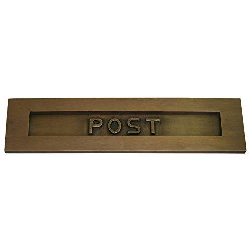 Durchwurfbriefkasten Haustür Briefschlitz Messing patiniert hochwertig exlusiv