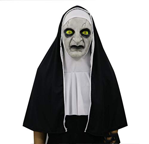 WYBXA Máscara De Halloween, Terror, Terrorífico, Sorprendido, Máscara Facial Femenina, Suministros Ordenados del Partido,Closedsimplenuns: Amazon.es: Jardín