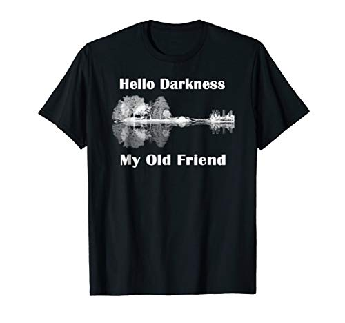 Hello Darkness My Old Friend Guitar Lake T-Shirts