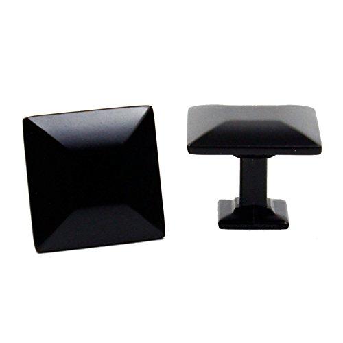 Matt Nickel 4 Light (HardwareDirect Modern Square Kitchen Bathroom Cabinet Door Drawer Knobs Pulls Handles in Brushed Nickel Brushed Oil Rubbed Bronze Matte Black Solid Stainless Steel)