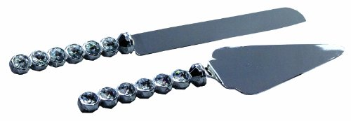 - Ivy Lane Design Wedding Accessories Faceted Stone Cake Knife and Server Set