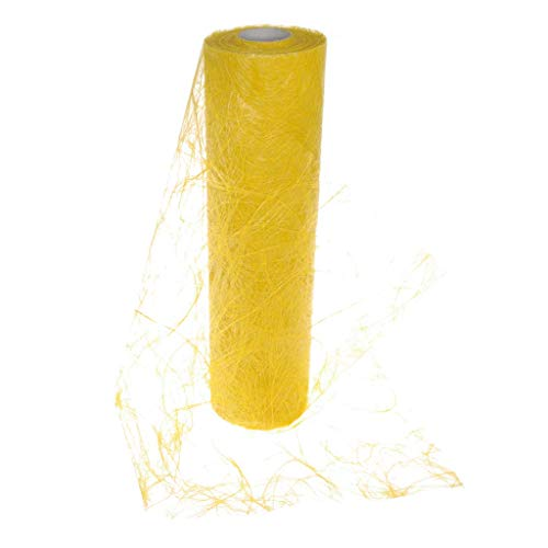 Sizoweb Table Runner Sunflower Yellow: Beautiful, Reusable, Easy to use and Customizable in Length (Cut & go) - Perfect for Decorating Seasonal, Wedding, Dinner and Party Tables (Covers 10 8ft Tables)