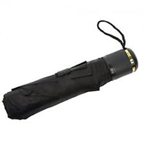 Women's Polyester 3 Fold Umbrella (Black)
