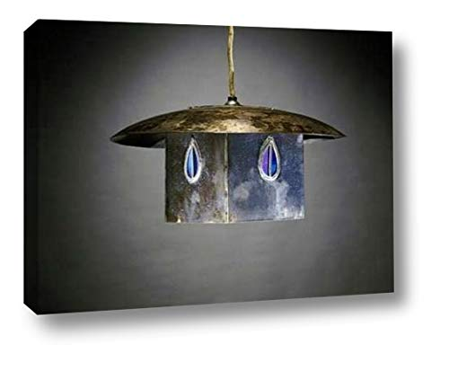 A Metal and Leaded Glass Hanging Shade by Charles Rennie Mackintosh - 18