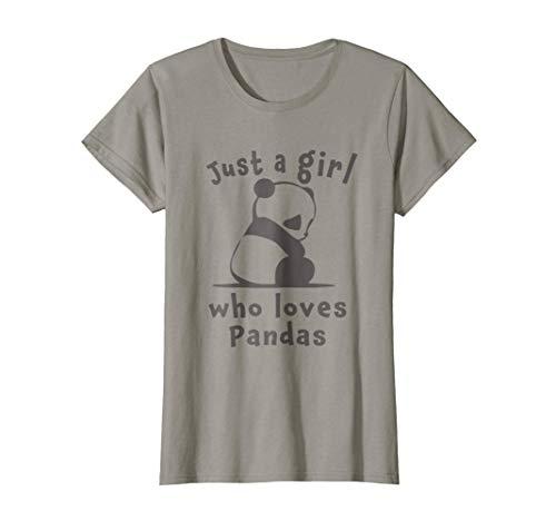 Womens Best Cutest Panda Ever Just A Girl Cute Gift T Shirt Small Slate