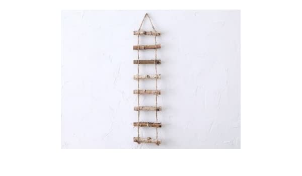 Vintage Decoración Retro Jardín Madera cáñamo cuerda escalera colgante creativo Leche té ropa madera colgantes: Amazon.es: Hogar