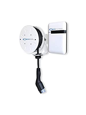 30A EVoReel EVSE - Retractable Reel Electric Vehicle Charging Station - AC Level 2, 30 Amp, 30 Ft. Cable (EVoReel with EVoCharge EVSE)