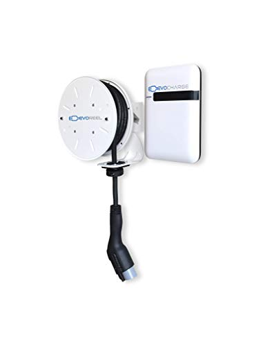 EVoCharge Electric Vehicle Charging Station with EVoReel - AC Level 2, 30 Amp, 30 Ft. Cable