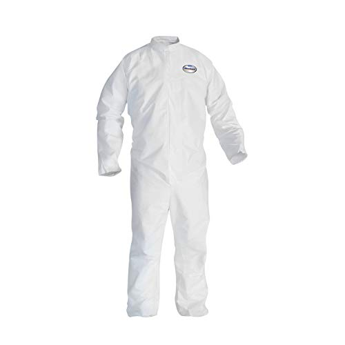 KleenGuard 46005 A30 Elastic-Back Coveralls, White, 2X-Large (Case of 25)