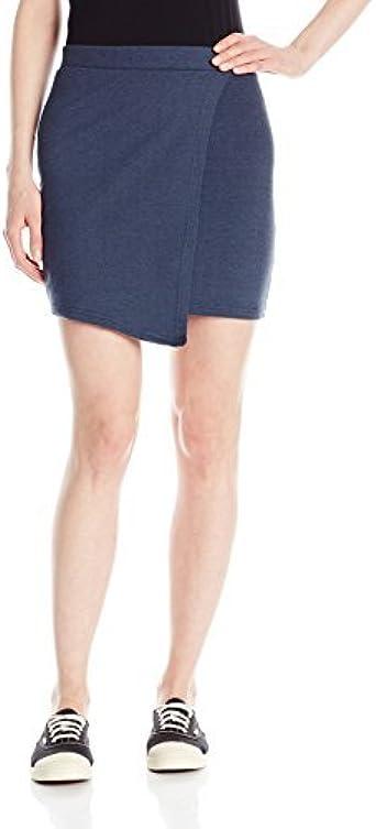 Derek Heart Juniors Rachels Knit Denim Evelope Skirt