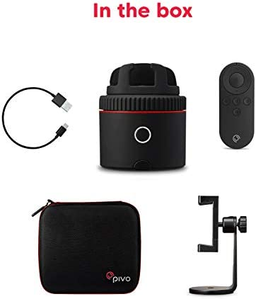 Pivo Starter Pack Red- Auto Tracking Smartphone Interactive Content Creation Pod – 360° Hands-Free Photos or Videos – Easy Special Effects for iPhone or Android – Face, Body & Action Tracking