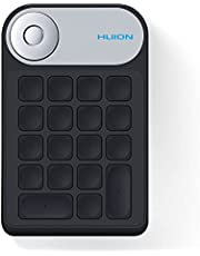 Huion Brenydial KD100 Wireless Express Key Remote Remote, Shortcut Keyboard with Dial Controller + 18 Custom Buttons, Portable Pot Tablet Keyboard, Computer, Laptop, Mac