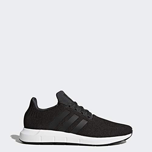 adidas Originals Men's Swift Run Sneaker, carbon/core black/medium grey heather, 10.5 M US