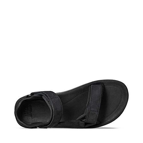 Teva Universal Punta Blk Descubierta leather Para black Premier Original M Hombre Sandalias Negro De rfETr