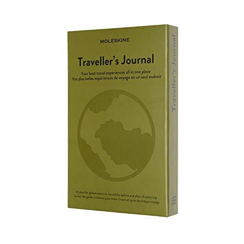 "Moleskine Passion Journal, Travel, Hard Cover, Large (5"" x 8.25"") Elm Green"
