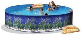 Piscina de acero redonda decorada oceano 4,00 x altura 0,90m 8551 ...