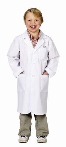Aeromax Jr. Lab Coat, 3/4 Length (Child 8-10) (Mad Doctor Halloween Costume)