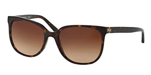 Tory Burch Women's 0TY7106 57mm Dark Tortoise/Brown Gradient Sunglasses (Tory Burch Sun Glass Case)