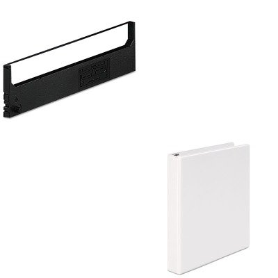 KITDPSR1800UNV20962 - Value Kit - Dataproducts R1800 Compatible Ribbon (DPSR1800) and Universal Round Ring Economy Vinyl View Binder (UNV20962) - Dataproducts R1800 Compatible Ribbon