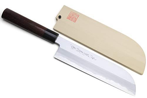 Yoshihiro Shiroko High Carbon Steel Kasumi Kama Usuba Japanese Vegetable Chef's Knife 7inch(180mm) with Shitan Handle by Yoshihiro (Image #7)