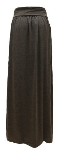 Haute Amber Femme Jupe Apparel Anthracite S Taille Longue Revers Jersey qqZAUgxwa