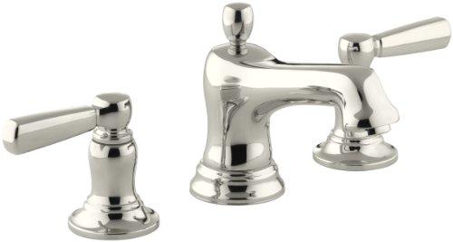 KOHLER K-10577-4-SN Bancroft Widespread Lavatory Faucet, Vibrant Polished Nickel ()