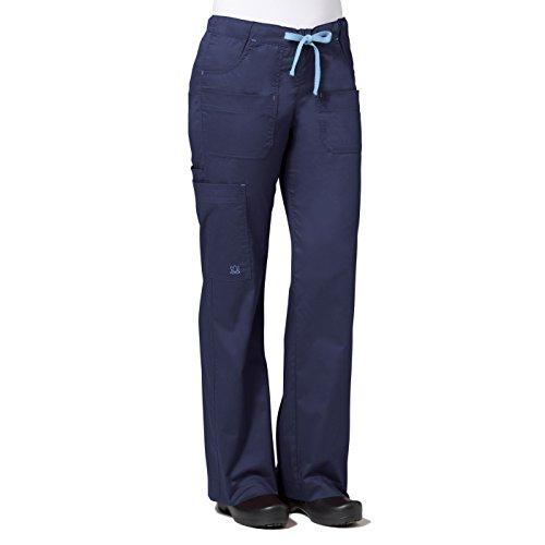 Drawstring Bootcut Scrub Pants - 4