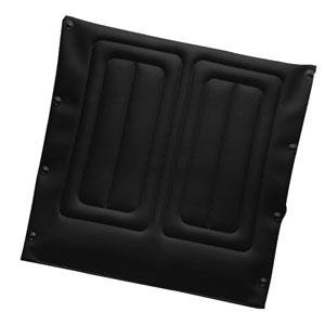 Invacare Corporation Replacement Seat Upholstery Kit, 20'' W x 18'' D Frame, Black Nylon