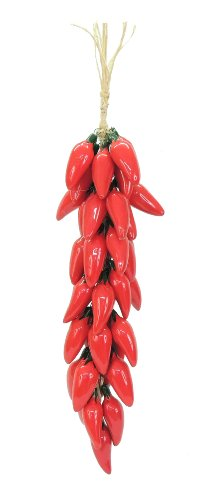Set of Mexican Ceramic Hanging Chiles-Save 30%- Assortment *000045*