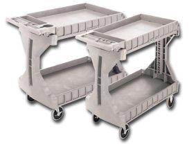 - Akro Mils - Plastics, Shelf Truck Only [ As Shown ], H30936, Description: Large Cart, Size L X W X H: 45 X 24 X 34-3/4