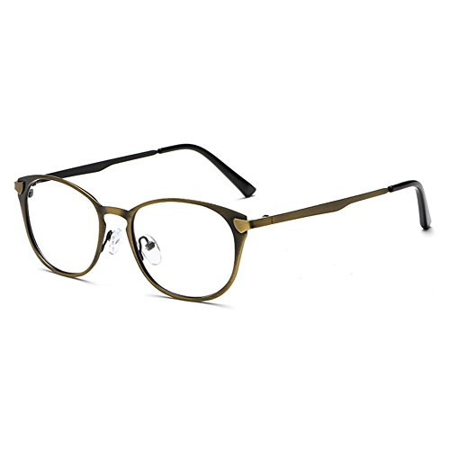 a4710b0411 En venta Hombres Mujeres Gafas de lentes transparentes - Marco de metal  Anti azul claro claro Gafas Marco de lentes para computadora / PC Juego /  TV ...
