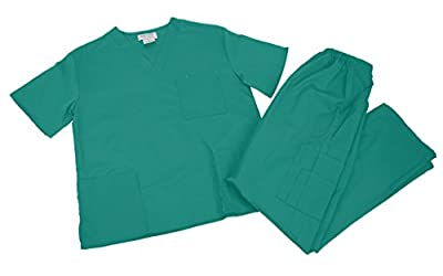 M&M Scrubs Women Scrub Set Medical Scrub Top and Pants L Teal