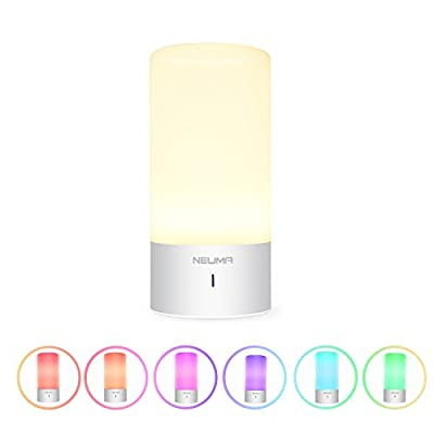 NEUMA Smart Bedside Table Lamp, Dimmable Warm White Light, Children Living Room Night Light, Touch Sensor and 256 RGB Color Changing Modes for Kid Baby Bedroom