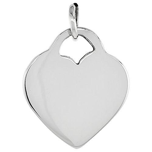 Sterling Silver Heart Pendant Handmade