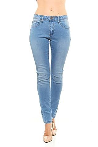 Red Jeans Slim Fit Women's Denim Jeans | High Waist, Light Stretch Ultra Slimming 5 Pocket Skinny Jeans for - Sequin Pocket Jean
