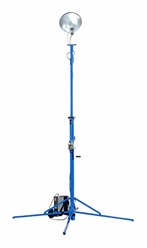 Portable Light Tower - 1000 Watt Metal Halide - Covers 23,000 SF - Extends to 12 feet(-240 Volts) by Larson Electronics (Image #1)