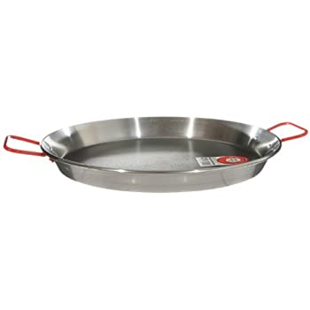 Amazon.com: MageFesa Carbon Steel Paella Pan, 12 Inch: Kitchen & Dining