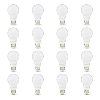 AmazonBasics 60W Equivalent, Daylight, Non-Dimmable, 10,000 Hour Lifetime, A19 LED Light Bulb | 16-Pack