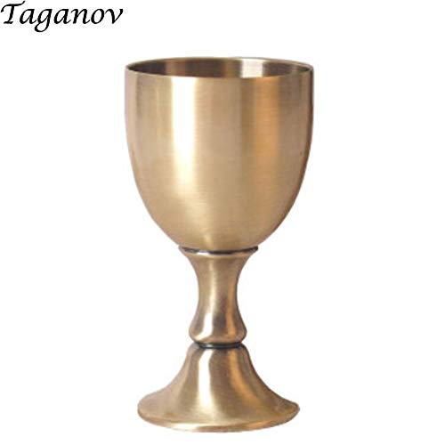 Small Liquor Cup Goblet Luxurious Unique Metal Glass Pure Copper Handmade 100 ML 3.4 OZ Capacity as Friends Gift