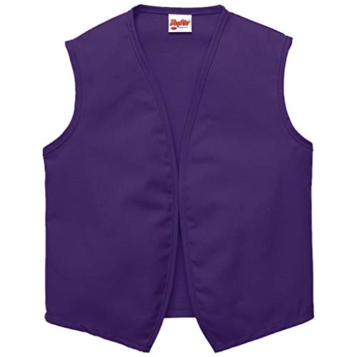 DayStar Apparel 740NP No Pocket Unisex Vest (6 Pack), Purple, Medium -