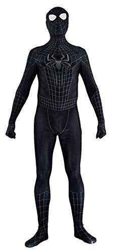 The Amazing Spiderman 2 Costume Black Spandex Halloween Cosplay Spider-Man Costume (Kids-Large)]()